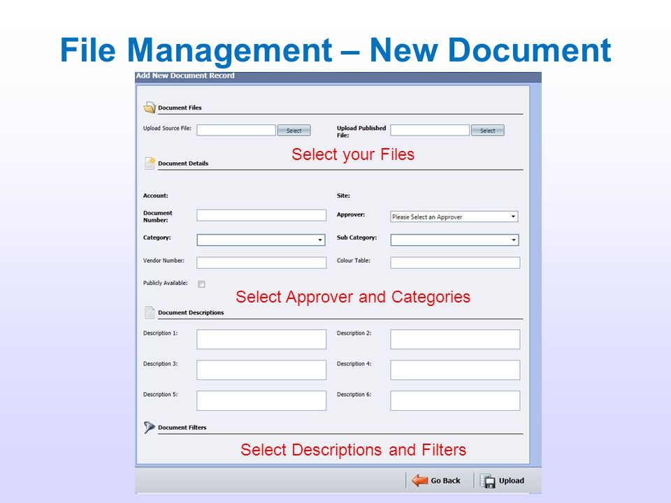 File Management – New Document