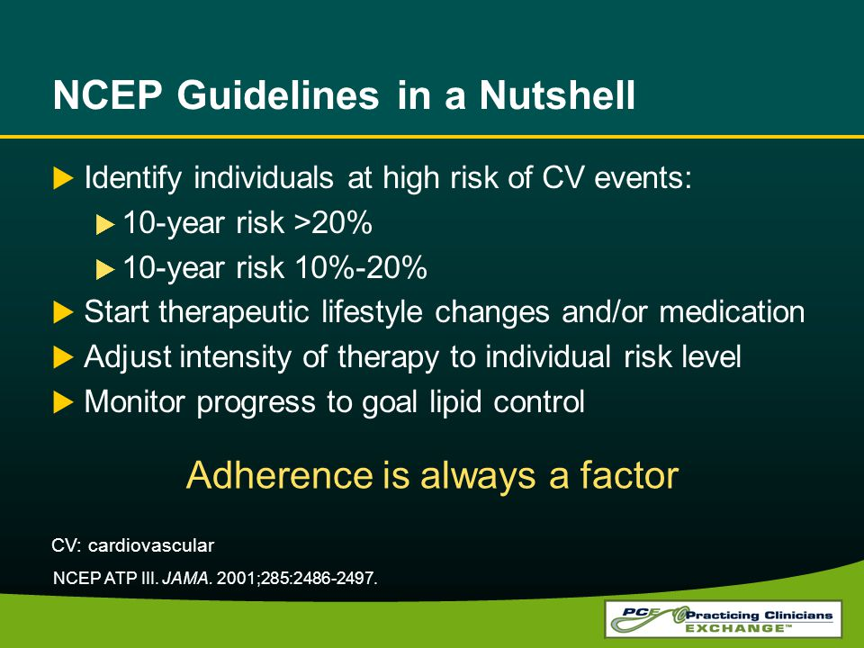 NCEP Guidelines in a Nutshell