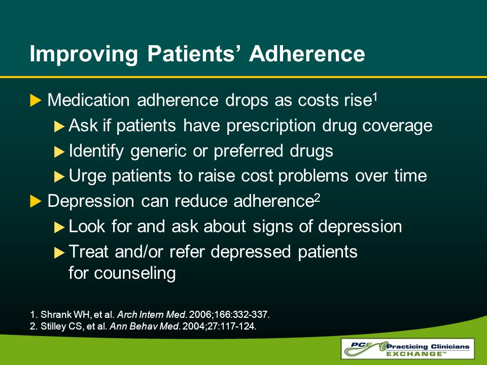 Improving Patients' Adherence