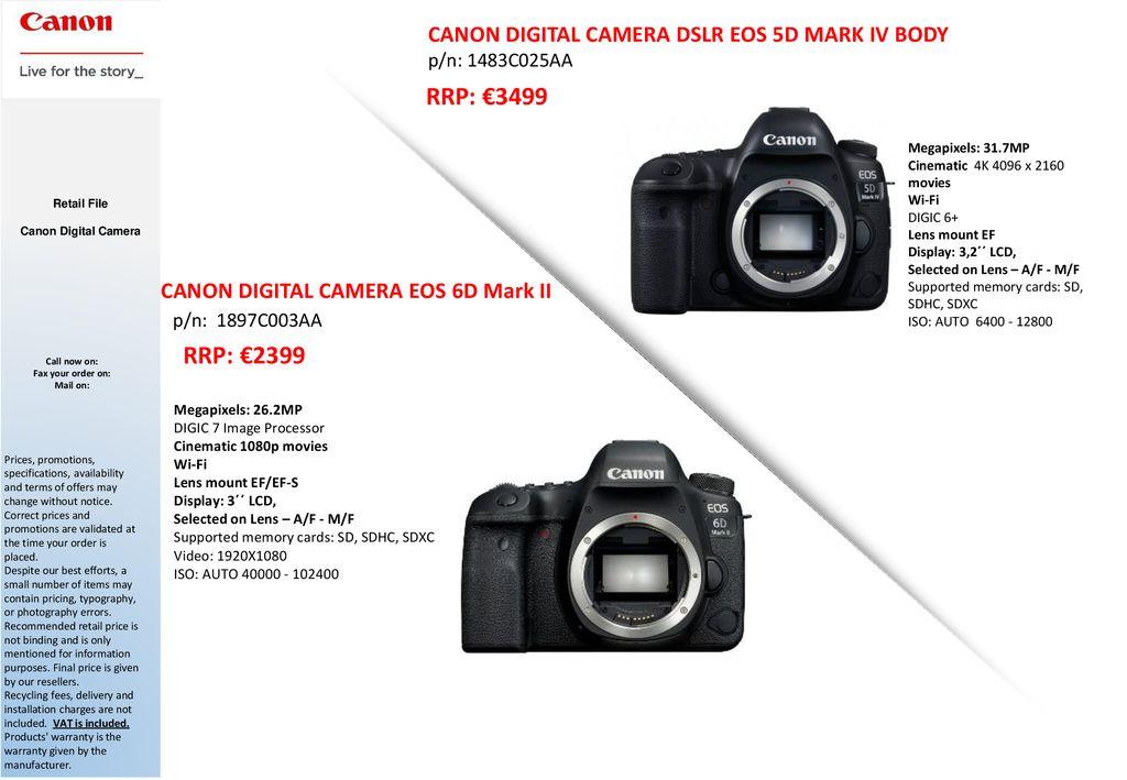 Canon Digital SLR and DSC Cameras Range ppt download