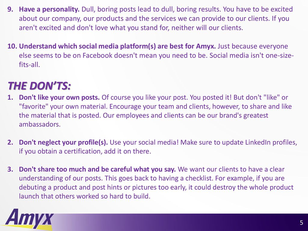 Social Media Training Quick guide to using LinkedIn and