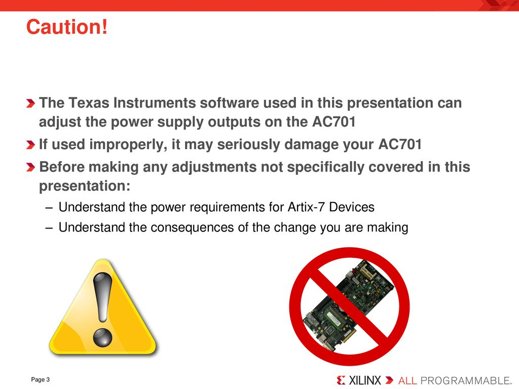 AC701 Power Bus Reprogramming - ppt download