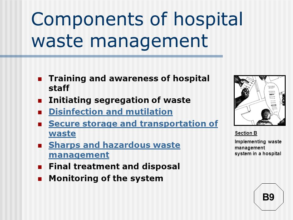Components of hospital waste management