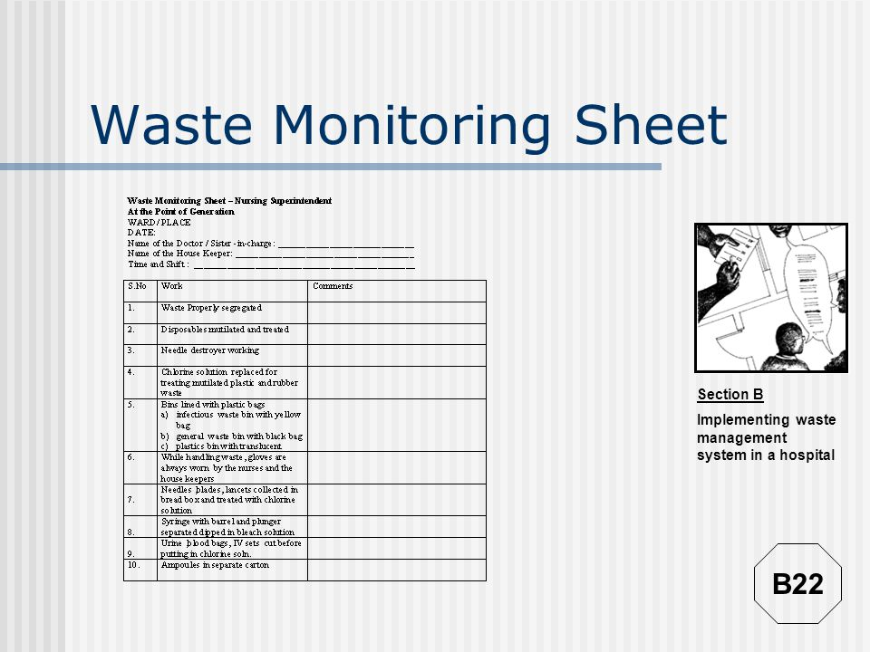 Waste Monitoring Sheet