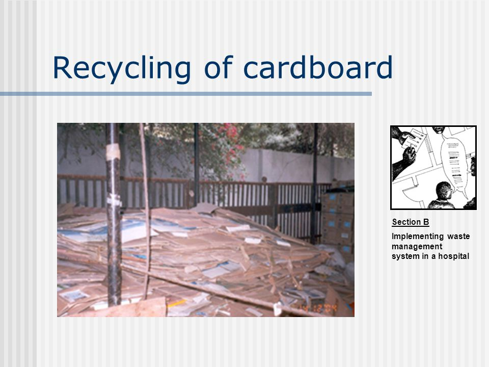 Recycling of cardboard