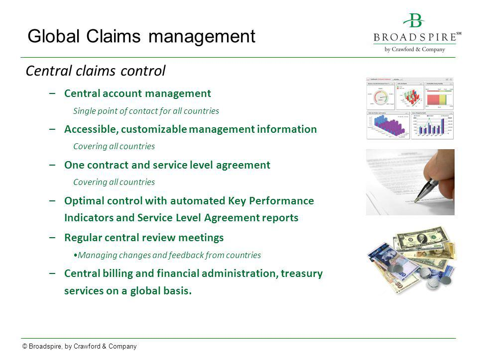 Global Claims management