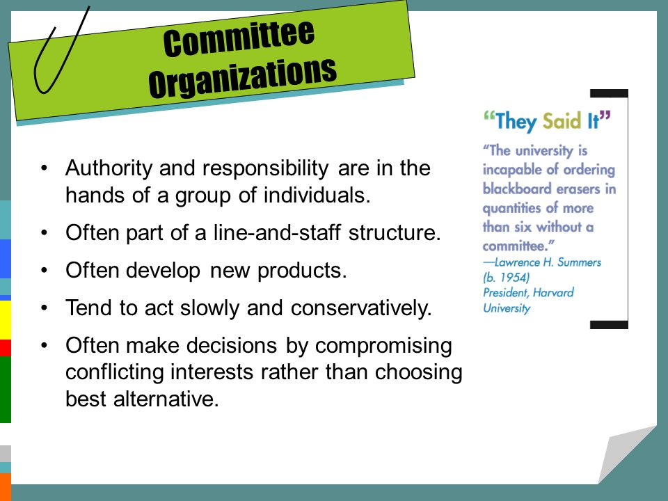 Committee Organizations