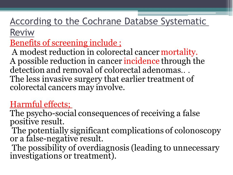 According to the Cochrane Databse Systematic Reviw