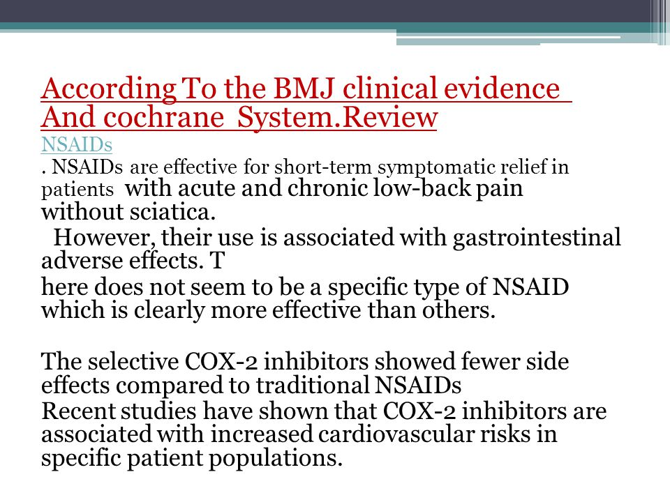According To the BMJ clinical evidence And cochrane System.Review