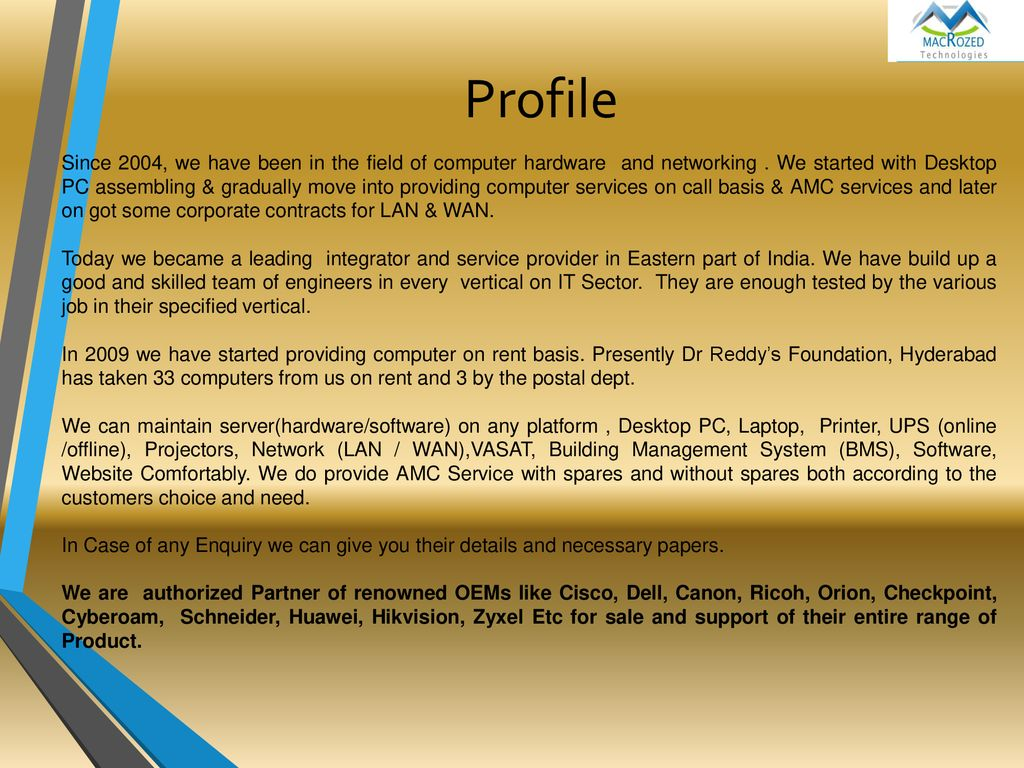 Macro Zed Technologies Ensuring better services - ppt download