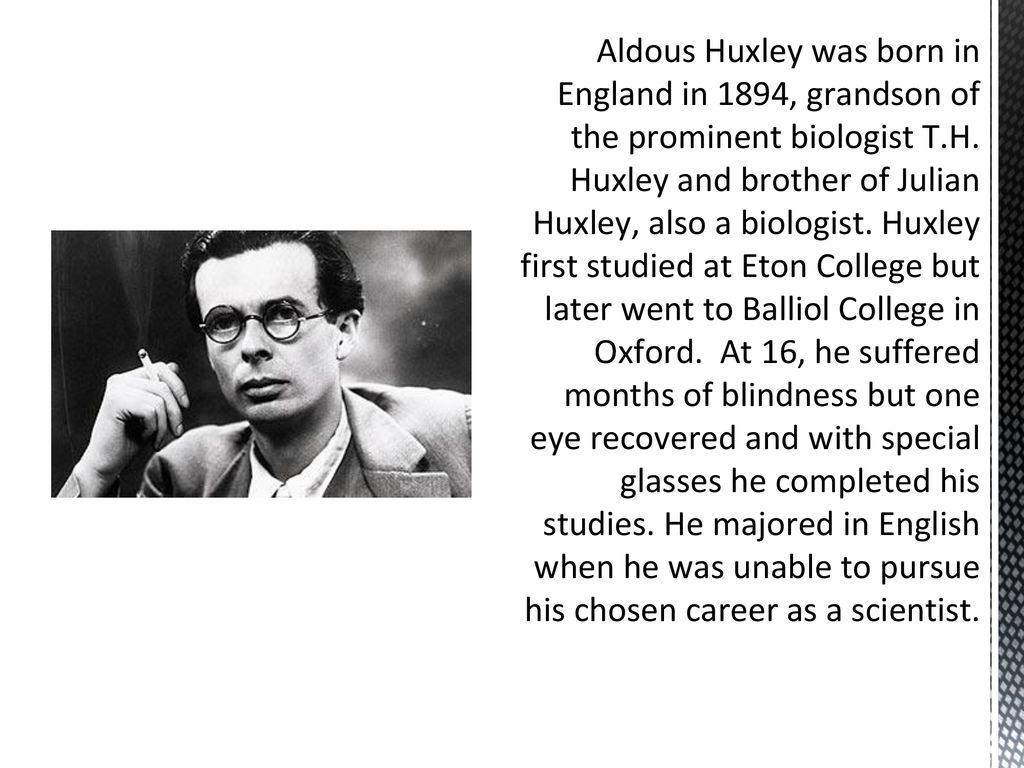 aldous huxley eugenics