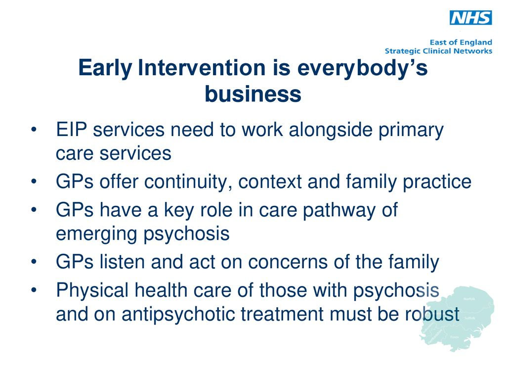 Emerging Psychosis When To Worry About >> First Episode Psychosis National Standards Awareness For Primary