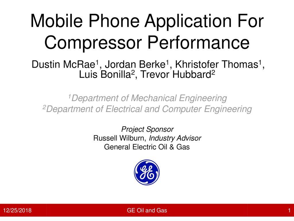 Mobile Phone Application For Compressor Performance - ppt