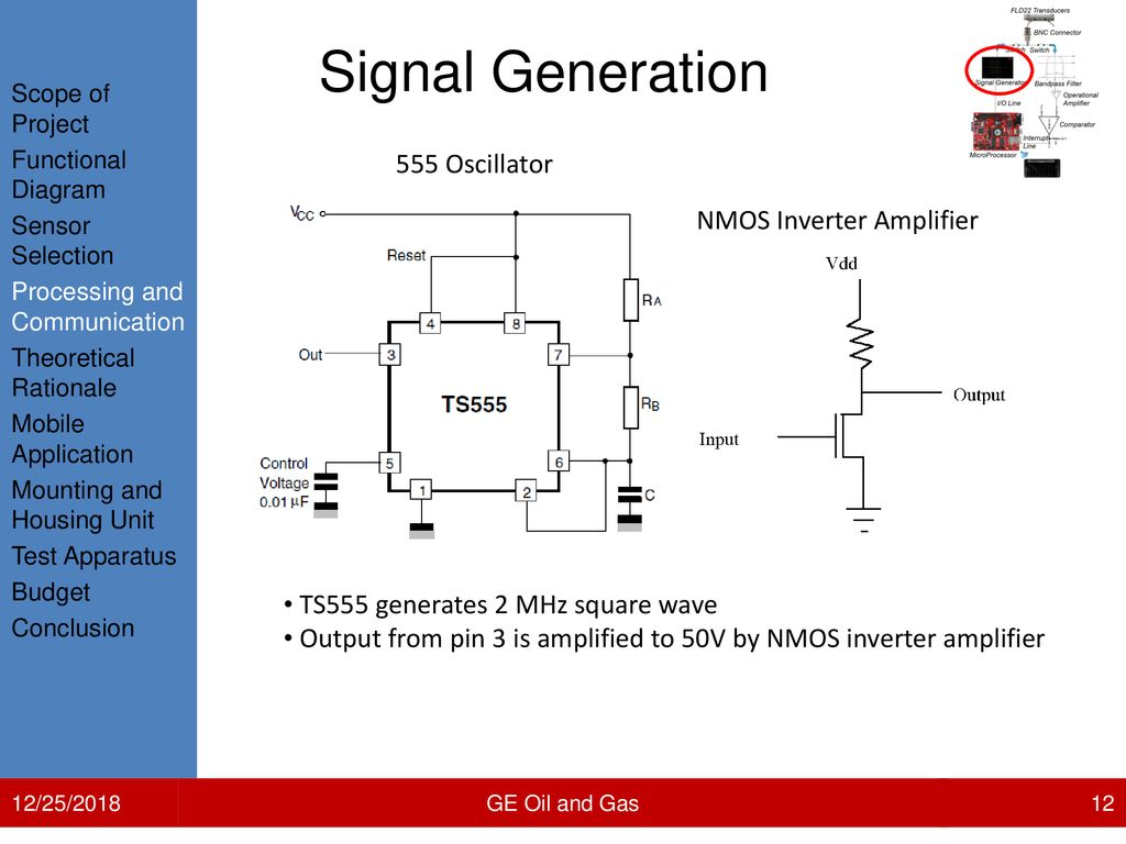 Mobile Phone Application For Compressor Performance Ppt Download 555 Oscillator Driving A Piezo Transducer Circuit Diagram Signal Generation Nmos Inverter Amplifier