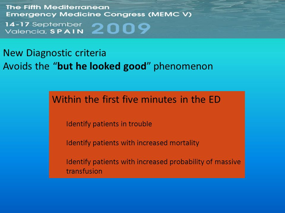 New Diagnostic criteria Avoids the but he looked good phenomenon