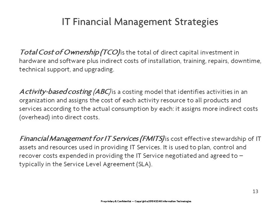 IT Financial Management Strategies