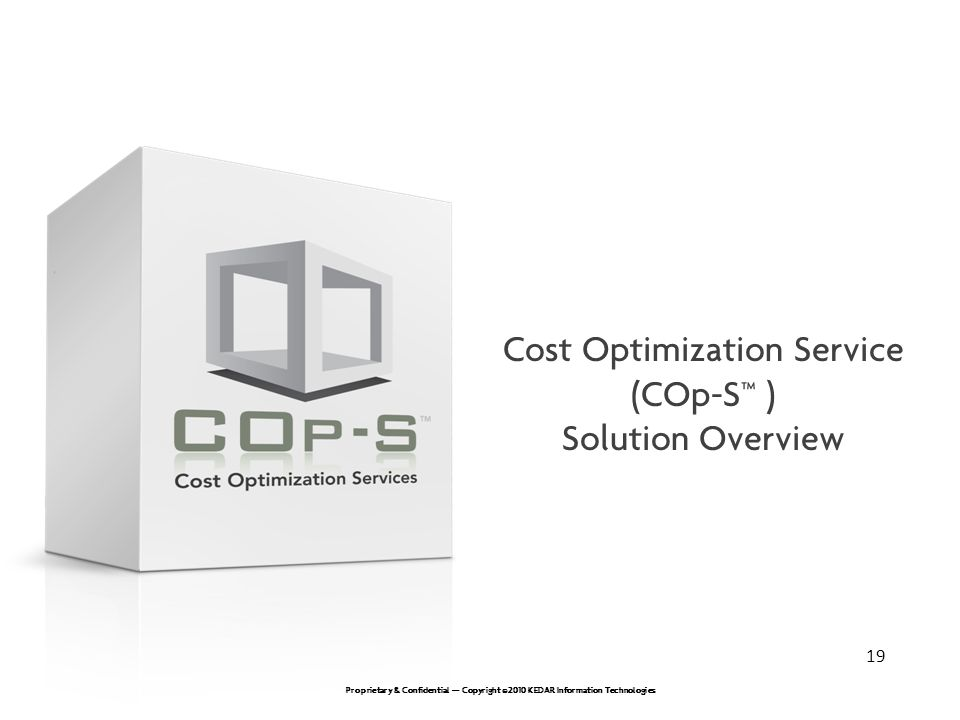 Cost Optimization Service