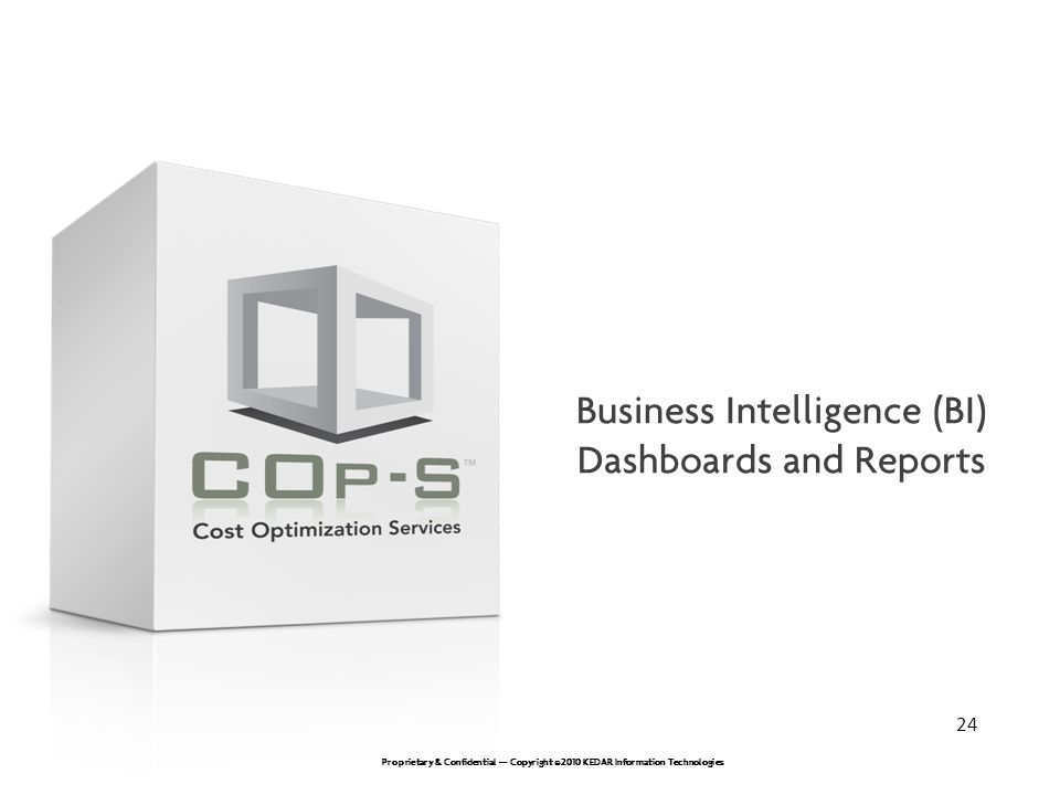 Business Intelligence (BI) Dashboards and Reports