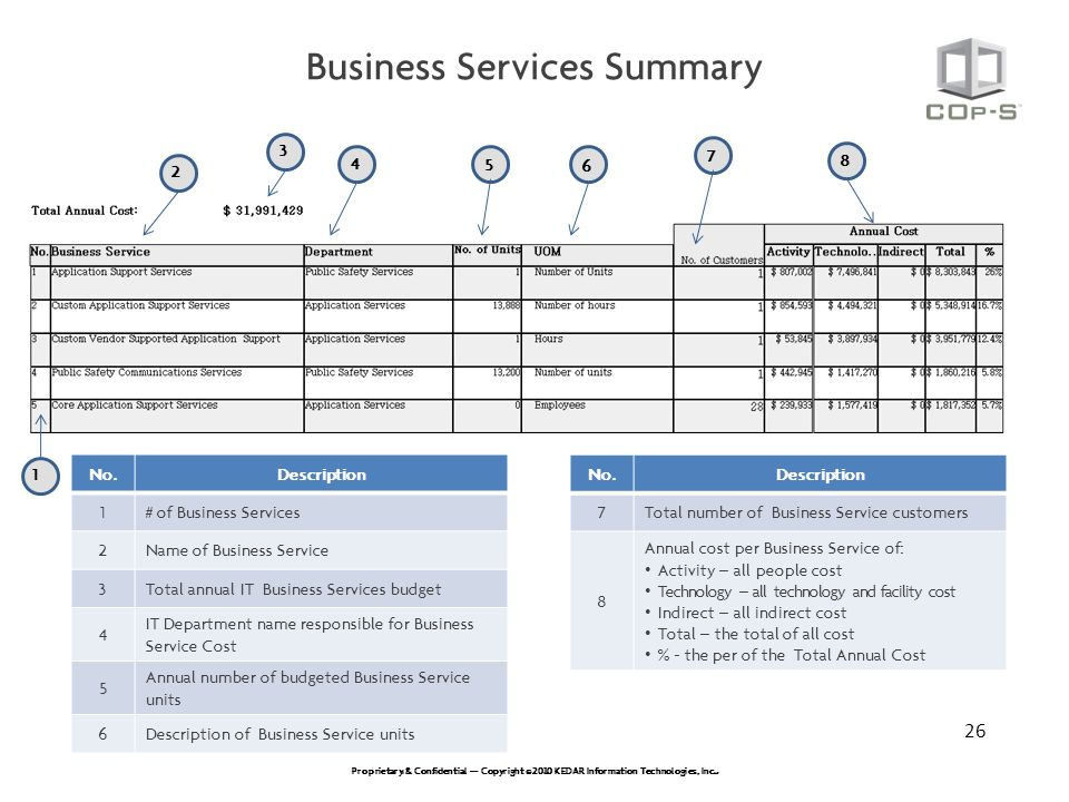 Business Services Summary