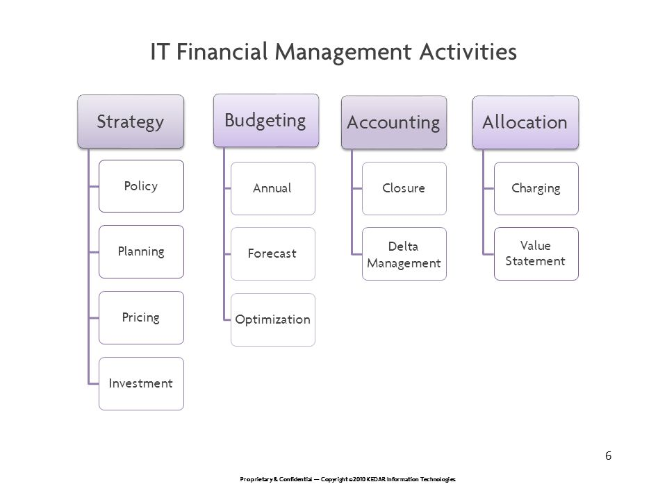 IT Financial Management Activities