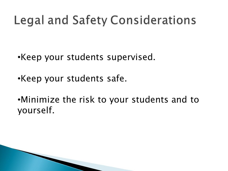 Legal and Safety Considerations