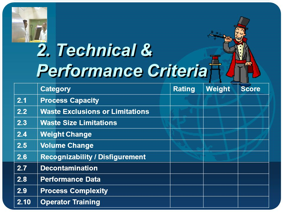 2. Technical & Performance Criteria