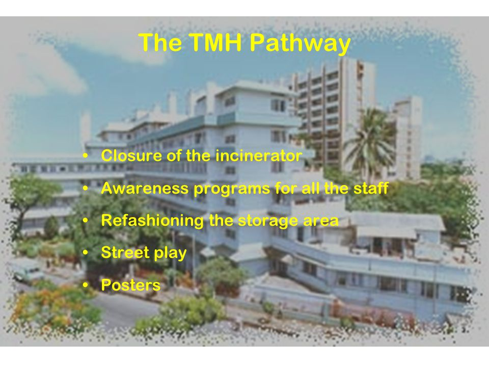 The TMH Pathway Closure of the incinerator