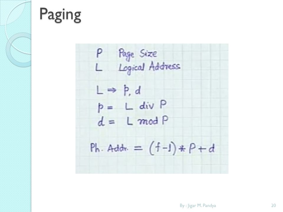 Paging By : Jigar M. Pandya