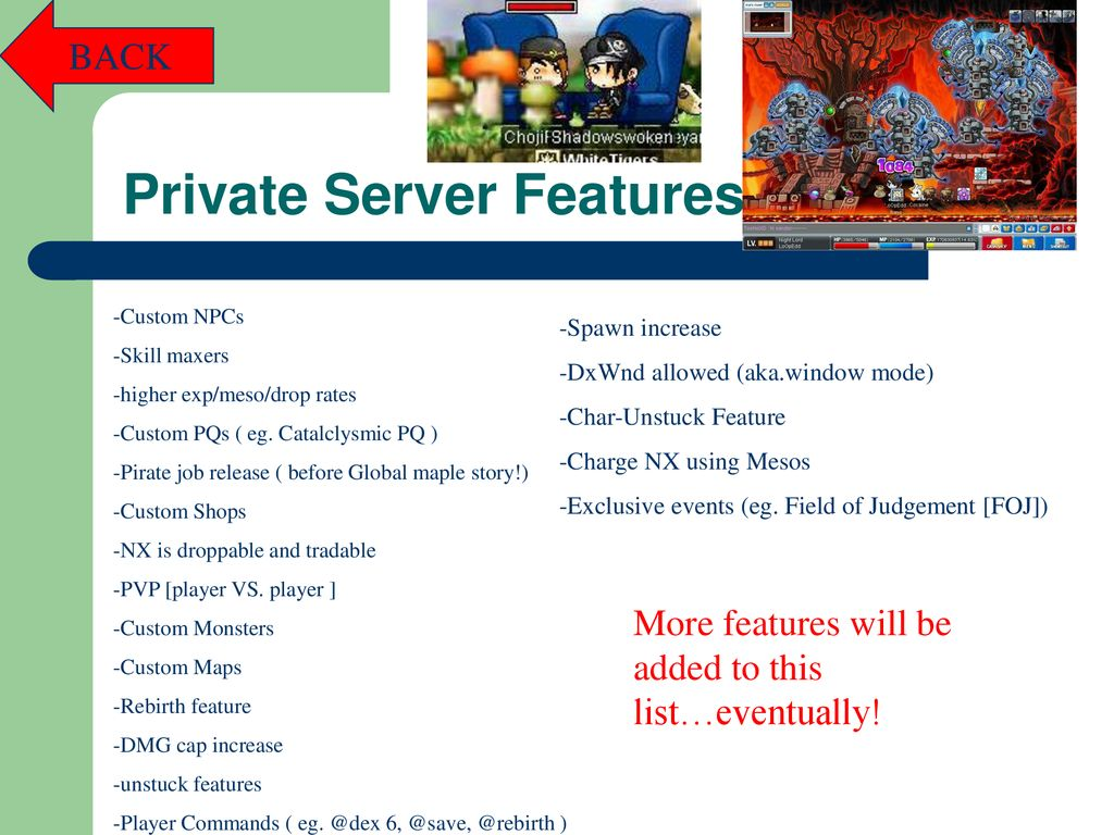 Shadowswoken's Guide to Maplestory Private Servers - ppt