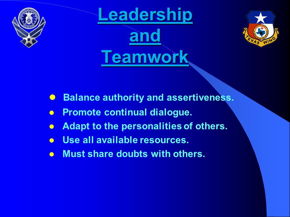 Leadership and Teamwork