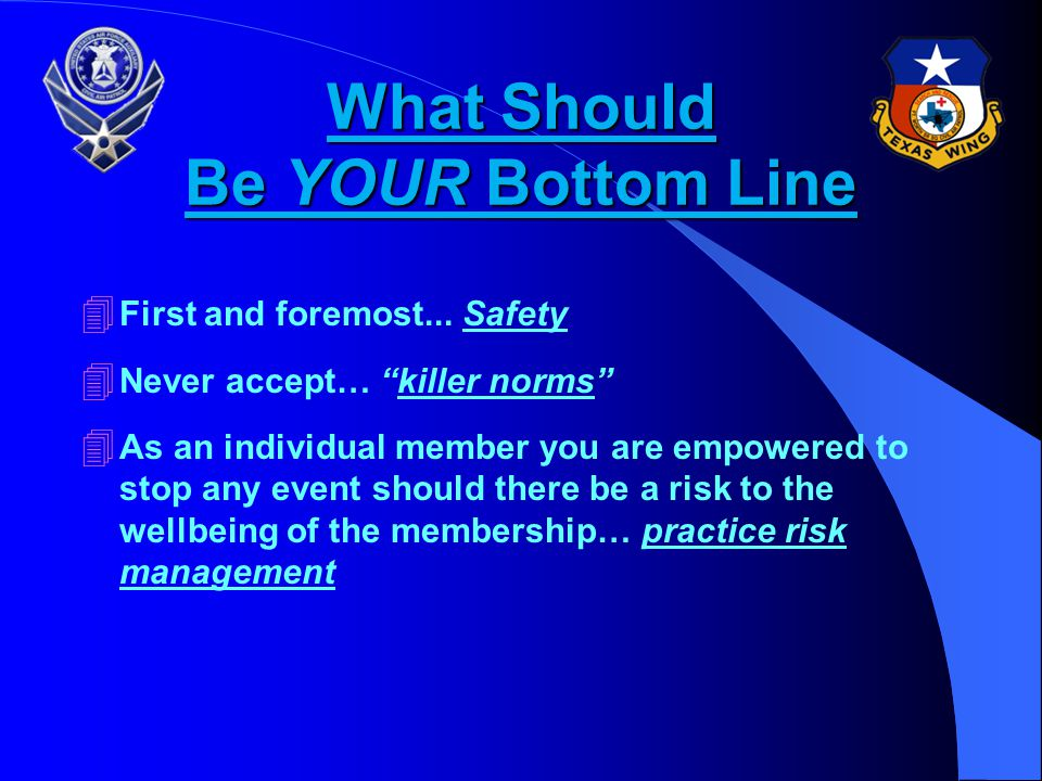 What Should Be YOUR Bottom Line