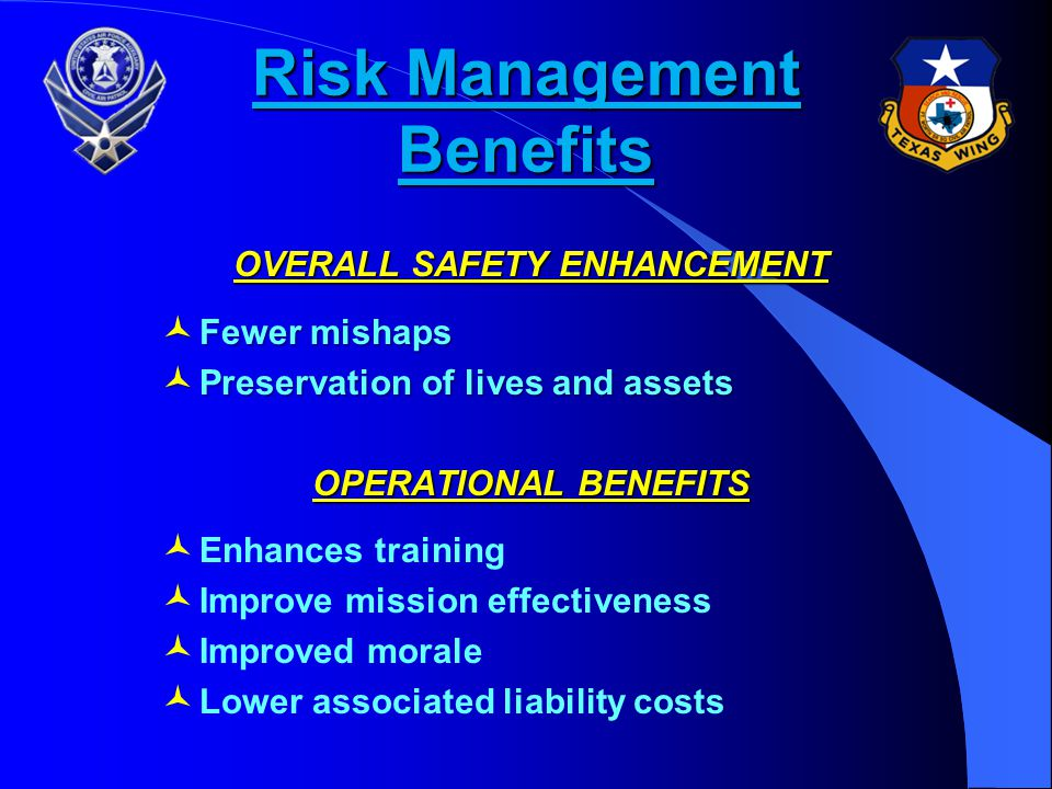 Risk Management Benefits