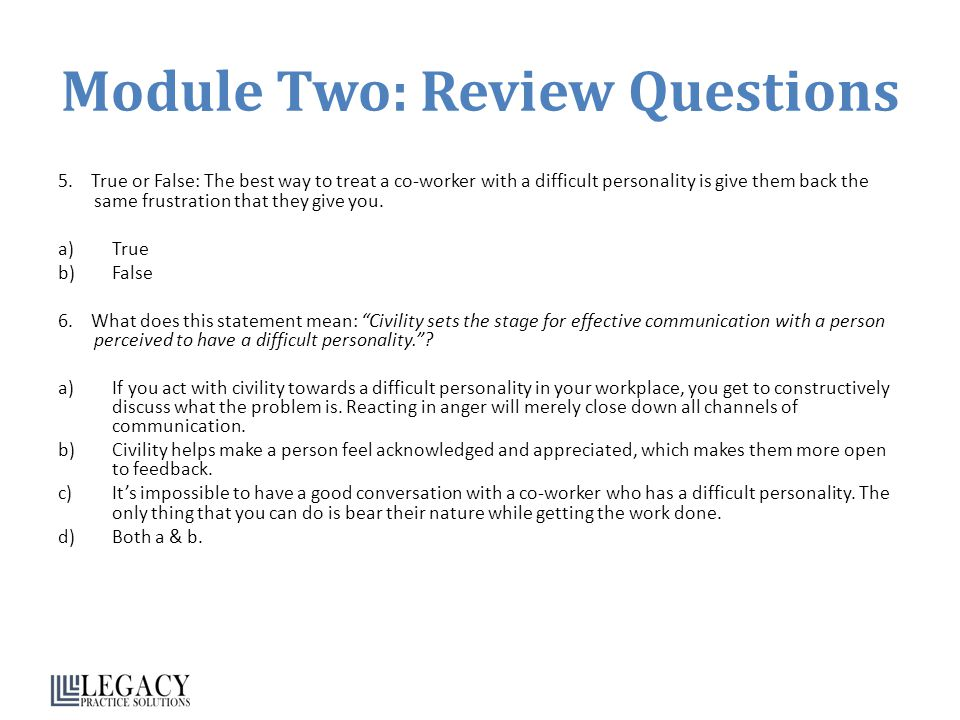 Module Two: Review Questions