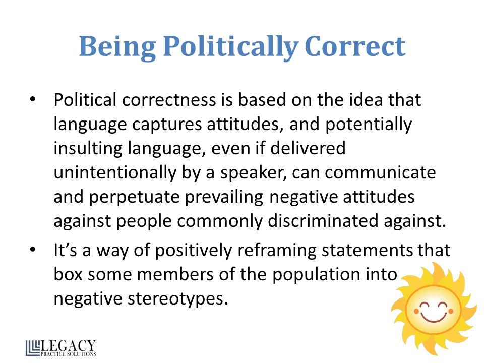 Being Politically Correct