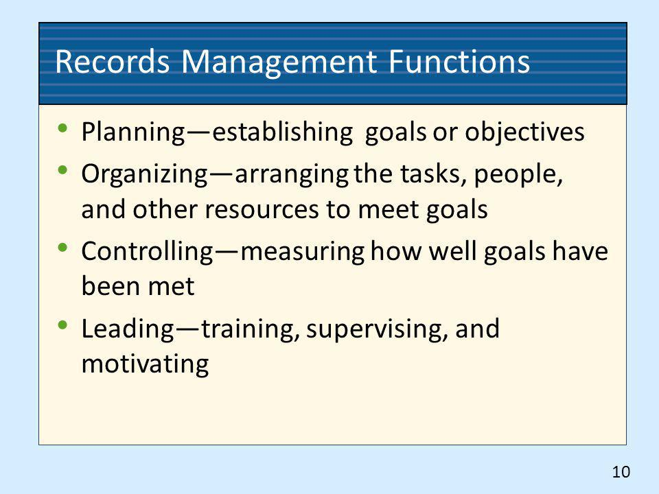 Records Management Functions