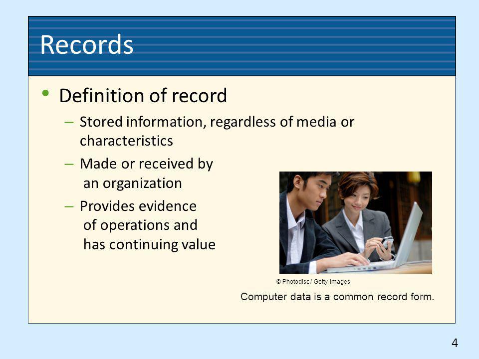 Records Definition of record