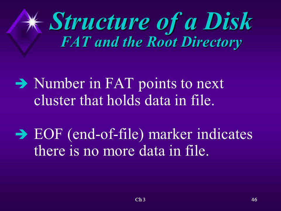 Structure of a Disk FAT and the Root Directory