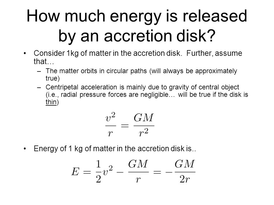 How much energy is released by an accretion disk