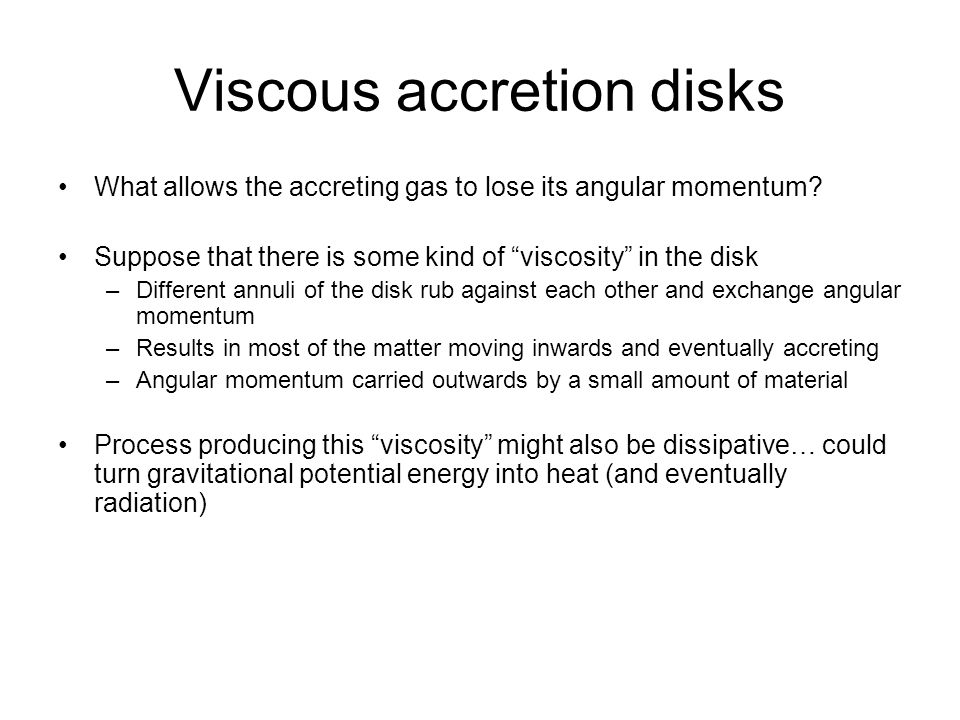 Viscous accretion disks