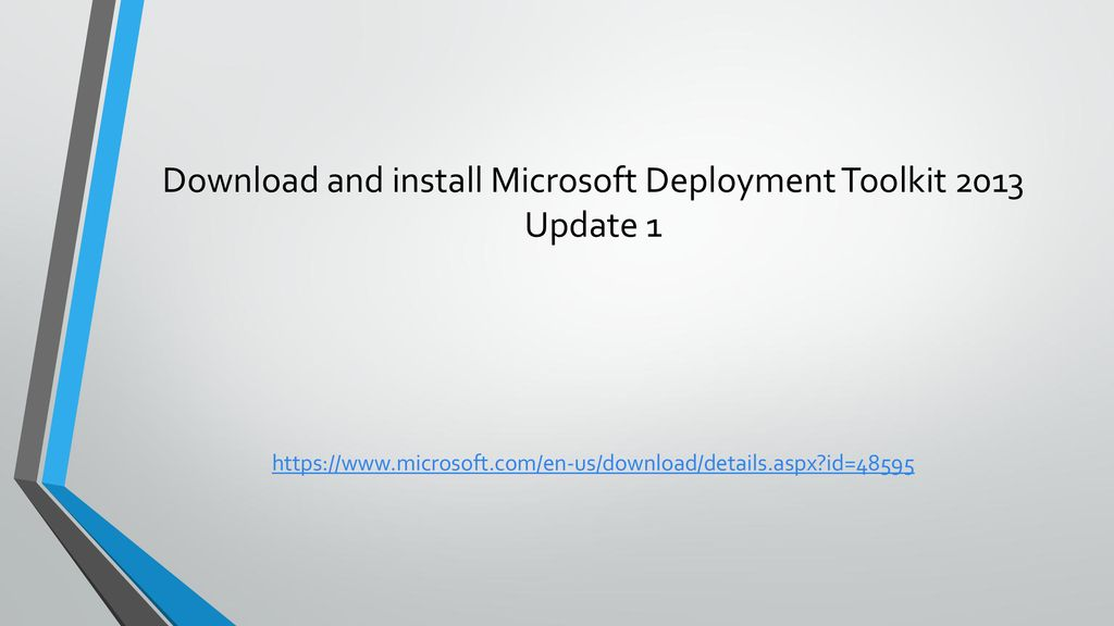 Installing and configuring MDT 2013 and WDS - ppt download