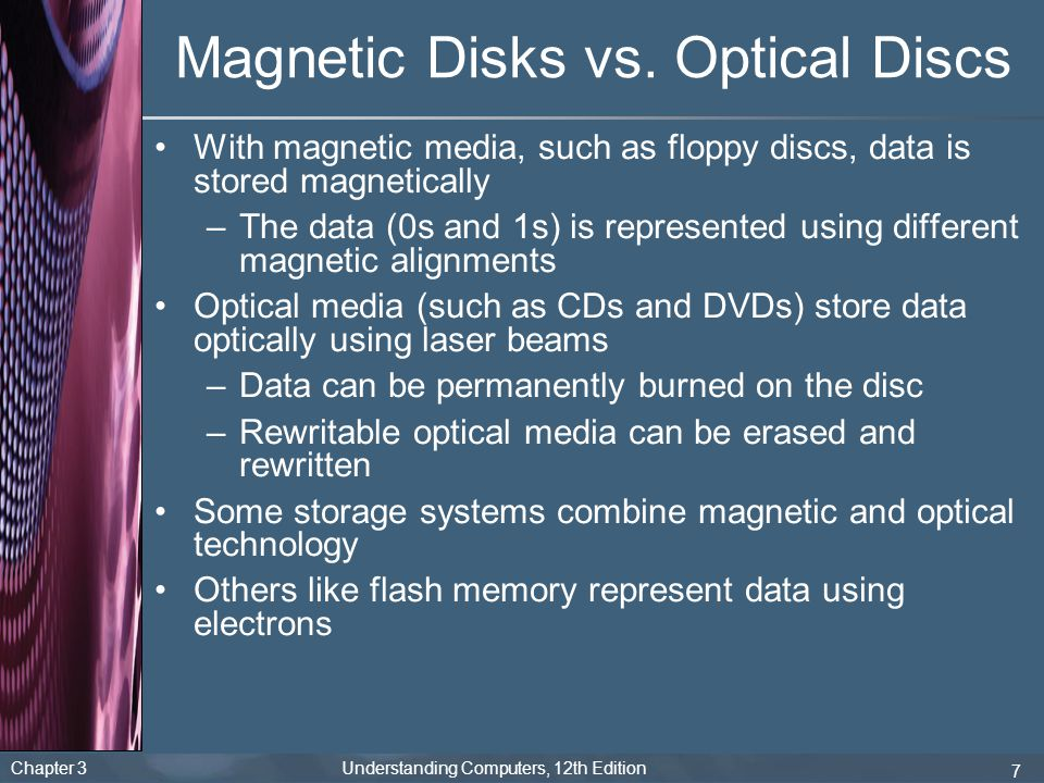 Magnetic Disks vs. Optical Discs