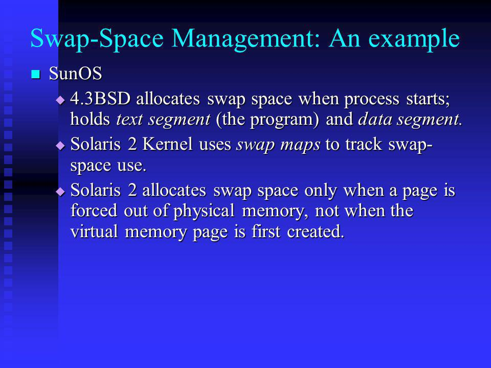 Swap-Space Management: An example