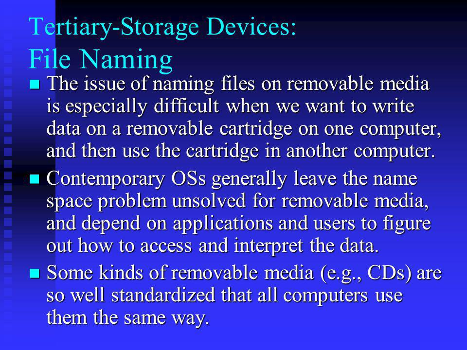Tertiary-Storage Devices: File Naming