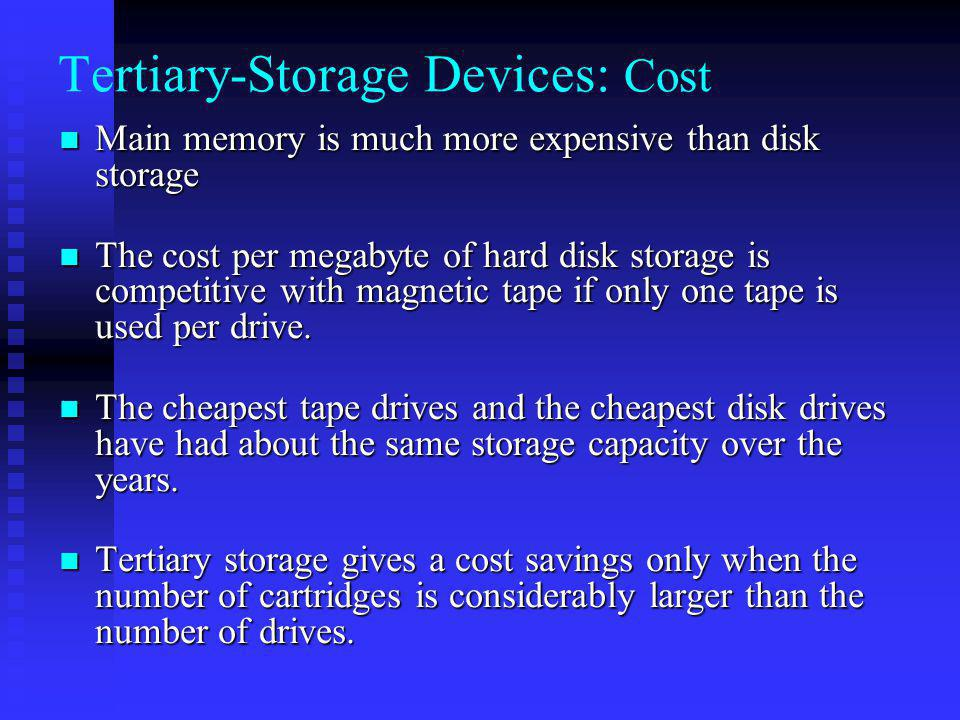 Tertiary-Storage Devices: Cost