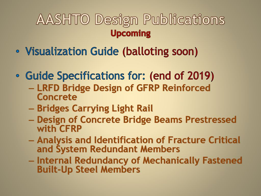 AASHTO and SCDOT Partnership and Publications - ppt download