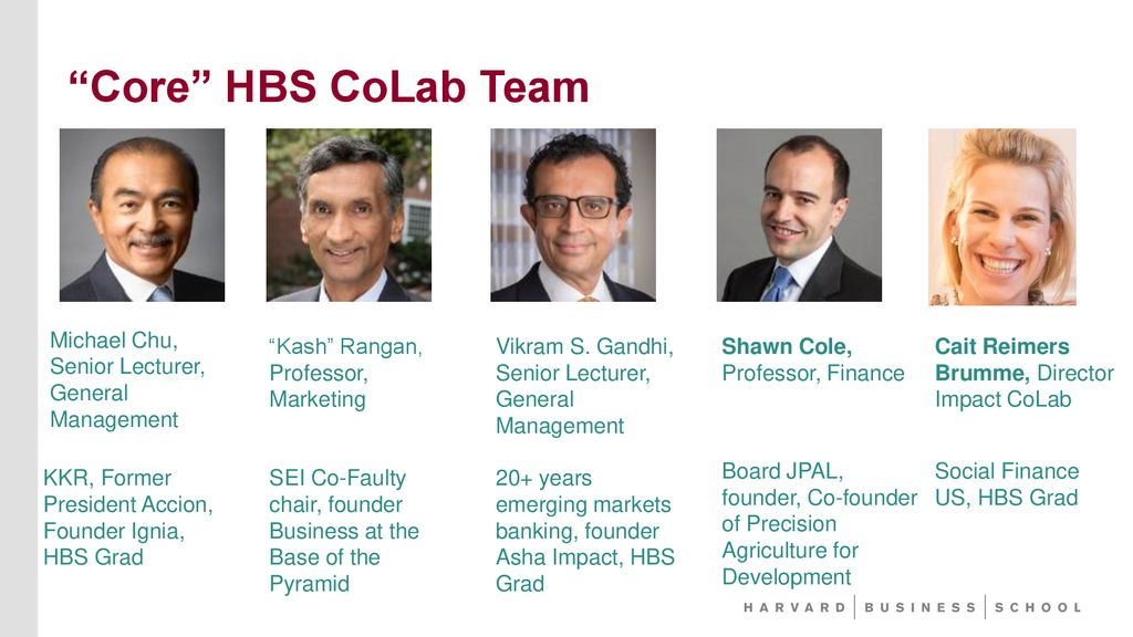 Investing in the 21st Century Impact and Capital at HBS