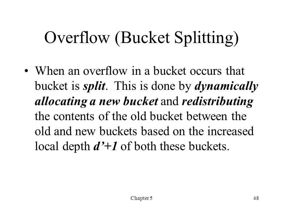 Overflow (Bucket Splitting)