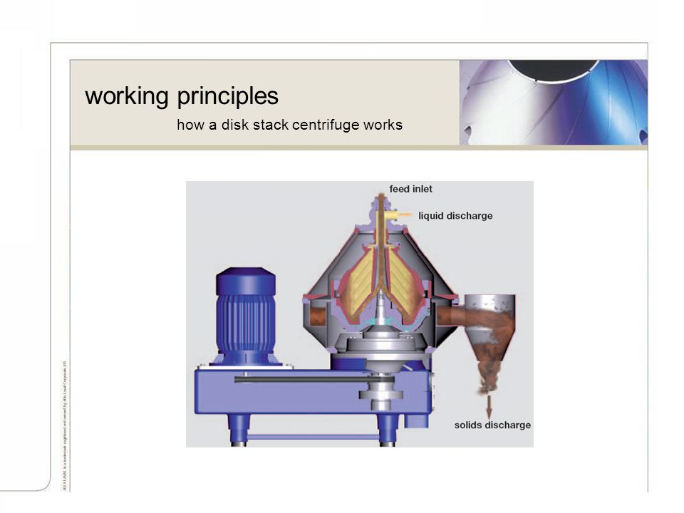 working principles how a disk stack centrifuge works As