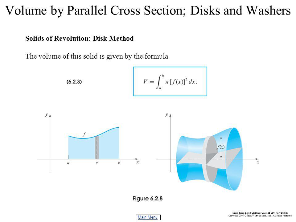 Volume by parallel cross section disks and washers ppt video 7 volume publicscrutiny Choice Image