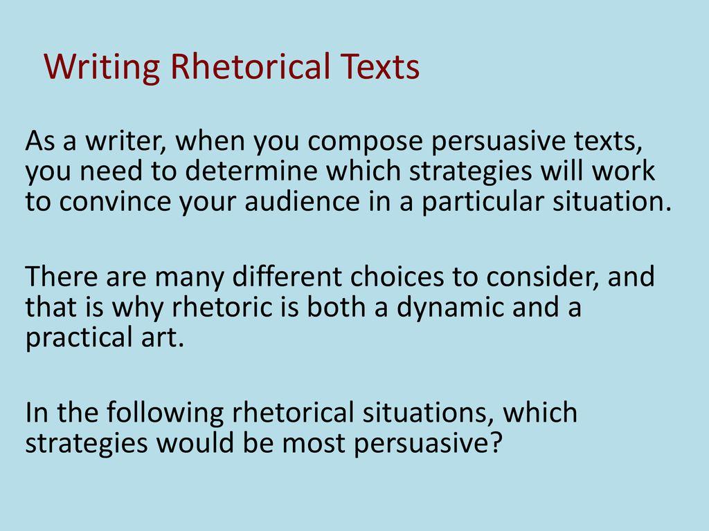 rhetorical ability